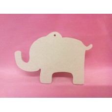 4mm MDF Elephant with hanging Hole